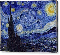 Acrylic Print featuring the painting Starry Night by Van Gogh