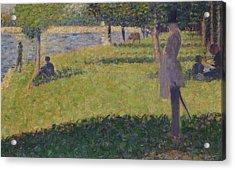 Study For La Grande Jatte   Acrylic Print by Georges Seurat