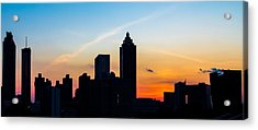 Sunset In Atlanta Acrylic Print