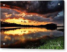 Sunset Reflections Acrylic Print by Rick Mann
