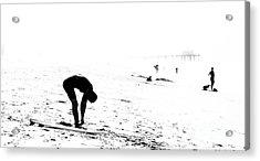 Surfer Acrylic Print by Nicholas Burningham