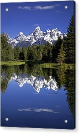 Teton Reflections Acrylic Print by Andrew Soundarajan