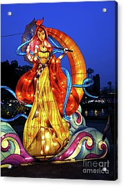 Acrylic Print featuring the photograph The 2017 Lantern Festival In Taiwan by Yali Shi