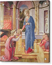The Annunciation Acrylic Print by Fra Filippo Lippi