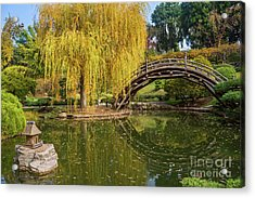 The Beautiful Fall Colors Of The Japanese Gardens In The Hunting Acrylic Print by Jamie Pham