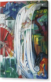 The Bewitched Mill Acrylic Print by Franz Marc
