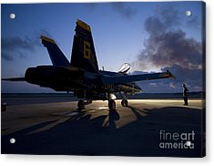 the Blue Angels Acrylic Print by Celestial Images