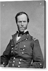 The Civil War. General William Tecumseh Acrylic Print by Everett