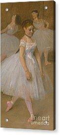 The Dancing Class Acrylic Print by Edgar Degas