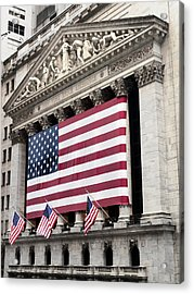 The Facade Of The New York Stock Acrylic Print
