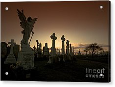 The Graveyard Acrylic Print by Angel  Tarantella