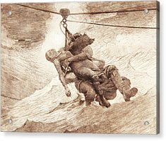 The Life Line Acrylic Print by Winslow Homer