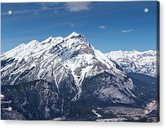 Acrylic Print featuring the photograph The Rockies Landscape by Josef Pittner