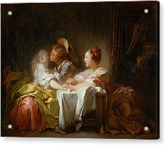 The Stolen Kiss Acrylic Print by Jean-Honore Fragonard