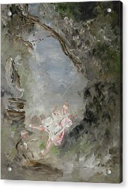 The Swing Acrylic Print by Edward Wolverton