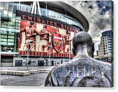 Thierry Henry Statue Emirates Stadium Acrylic Print