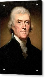 Thomas Jefferson Acrylic Print by Rembrandt Peale