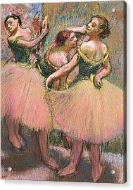 Three Dancers Acrylic Print by Edgar Degas