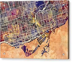 Toronto Street Map Acrylic Print