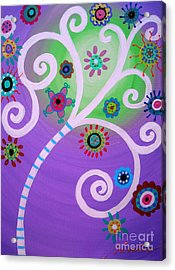 Acrylic Print featuring the painting Tree Of Life by Pristine Cartera Turkus