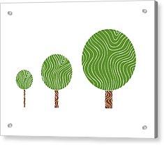 3 Trees Acrylic Print by Frank Tschakert