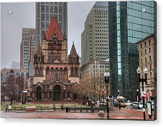 Acrylic Print featuring the photograph Trinity Church - Copley Square - Boston by Joann Vitali