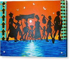 Uhuru Series Acrylic Print by Malik Seneferu