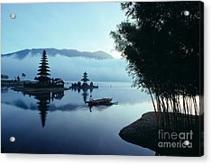 Ulu Danu Temple Acrylic Print by William Waterfall - Printscapes