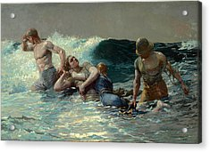 Undertow Acrylic Print by Winslow Homer