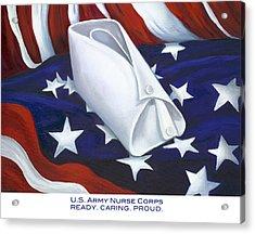 U.s. Army Nurse Corps Acrylic Print by Marlyn Boyd