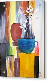 Acrylic Print featuring the painting 3 Vases by Gary Smith