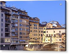 Vecchio Bridge Acrylic Print by Andre Goncalves