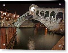 Venice By Night Acrylic Print by Joana Kruse