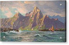 View Of Loften Islands Acrylic Print