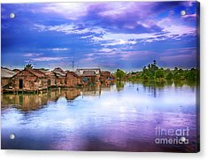 Acrylic Print featuring the photograph Village by Charuhas Images