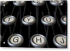 Vintage Typewriter Keys Close Up Acrylic Print by Allan Swart
