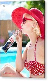 Vintage Val Poolside Acrylic Print