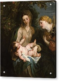 Virgin And Child With Saint Catherine Of Alexandria Acrylic Print by Anthony van Dyck