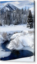 Wasatch Mountains In Winter Acrylic Print