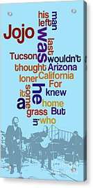 What Is The Name Of The Song? Funny Poster And Game For Music Lovers Acrylic Print