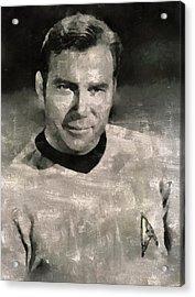 William Shatner Star Trek's Captain Kirk Acrylic Print