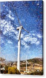 Wind Turbines Acrylic Print by George Atsametakis