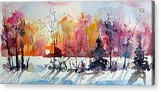 Winter Acrylic Print by Kovacs Anna Brigitta