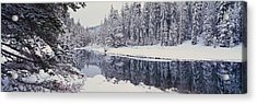 Winter Snowstorm In The Lake Tahoe Acrylic Print by Panoramic Images
