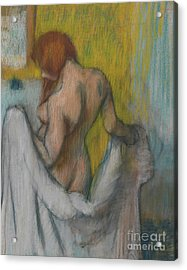 Woman With A Towel Acrylic Print by Edgar Degas