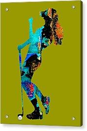 Womens Golf Collection Acrylic Print