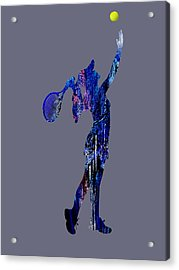 Womens Tennis Collection Acrylic Print by Marvin Blaine