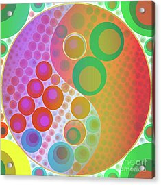 Yin Yang Pop Art By Mary Bassett Acrylic Print
