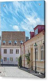 Acrylic Print featuring the photograph Ystad Street Scene by Antony McAulay