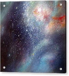 Acrylic Print featuring the painting 30 Doradus Nebula by Allison Ashton